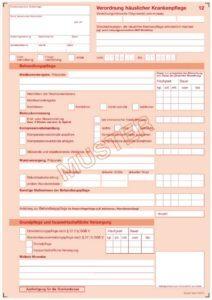 Verordnung haeuslicher Krankenpflege SGB V - Muster 12